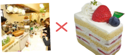 茶房 歌舞伎×菓子sパトリーの苺ショートケーキ