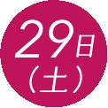 29日(日)