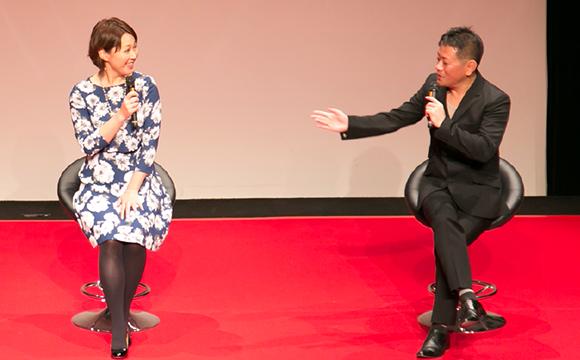 イラストレーター・いしいのりえと、声優・岩田光央による官能小説朗読ショー、甘くてやさしい声で官能の世界へ誘います